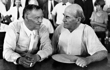 Clarence Darrow (left) defended John Scopes in the trial. More importantly, Darrow used the trial as a way to attack fundamentalism. William Jennings Bryan (right) ran for president numerous times, served as the lead prosecutor and defender of traditional values and the belief that what is in the Bible is the literal truth.